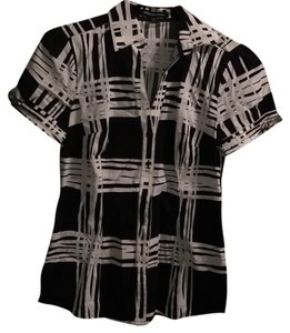 Express Button Down Shirt Black and white