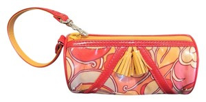 Isabella Fiore Vintage Patent Leather Wristlet in Multi Color
