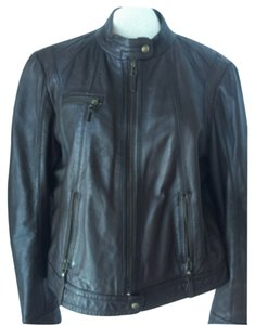 Marc New York Chocolate Brown Leather Jacket