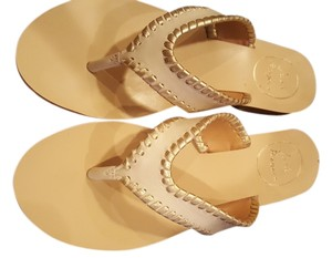 Jack Rogers Cream and gold Sandals