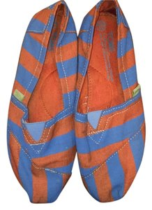 TOMS Orange and blue Flats