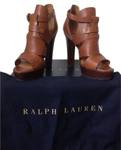 Ralph Lauren Platform Brown Sandals
