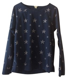 J.Crew Top Blue with white stars