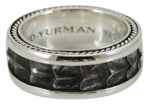 David Yurman David Yurman Men's Sterling Silver 8mm Armory Band Ring - Retail $350