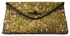 Jimmy Choo Gold /Black Clutch
