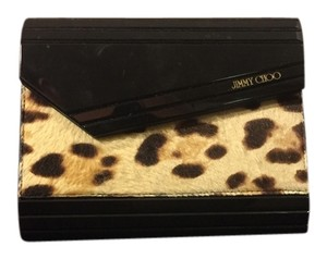 Jimmy Choo Black/Leopard Clutch