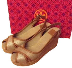 Tory Burch Slingback tan Wedges