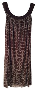 Max Studio short dress Brown with White pattern on Tradesy