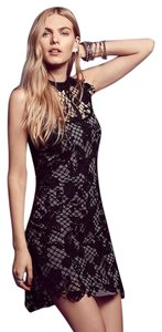 Free People Snowdrop Trapeze Black Dress