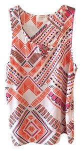 Everly Top White / orange / pink