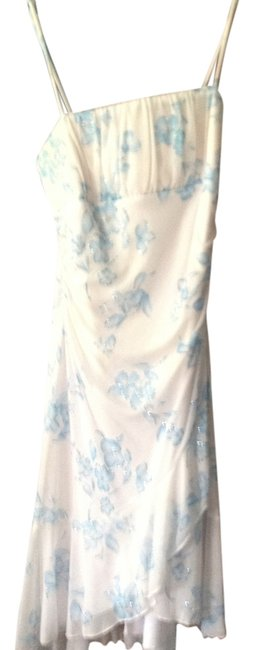 Item - Blue and White Above Knee Short Casual Dress Size 12 (L)
