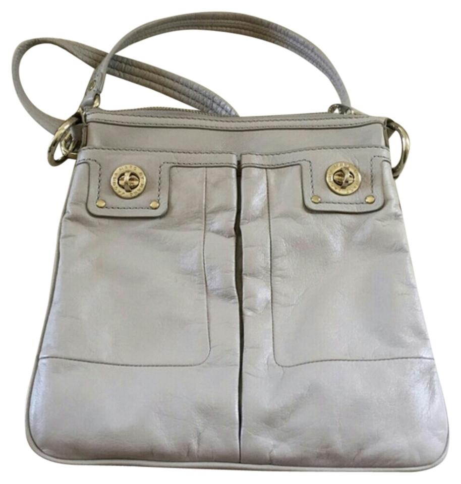 041f9114c7e Marc by Marc Jacobs Turnlock Sia Purse Gray Grey Silver Leather ...