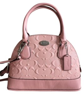 Coach Cora Domed Satchel in Blush