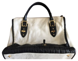 BCBGMAXAZRIA Tote in Black And White