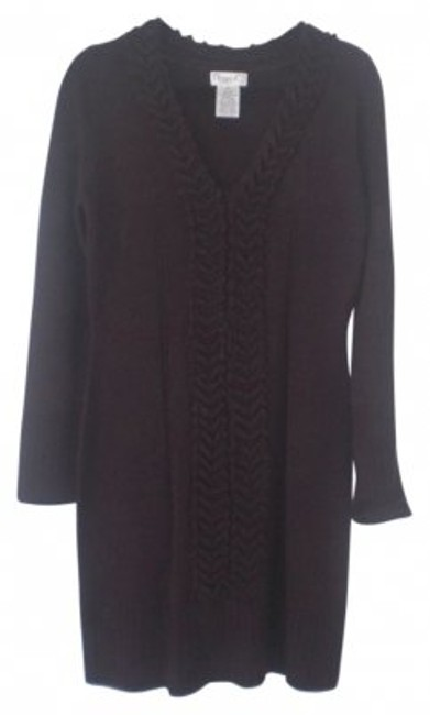 Preload https://img-static.tradesy.com/item/9442/maggy-london-eggplant-sweater-with-cable-detailing-above-knee-short-casual-dress-size-14-l-0-0-650-650.jpg