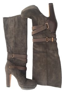 BCBGMAXAZRIA Suede Boot Bcbg Leather Grey Boots