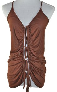 Emanuel Ungaro Size 8 Long Sleeve Shirt Top Brown