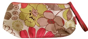 Clinique flowered cosmetic bag