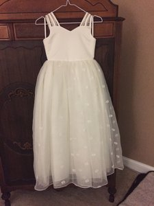 Ivory Flower Girl Dress Ivory Size Youth 10 Dress