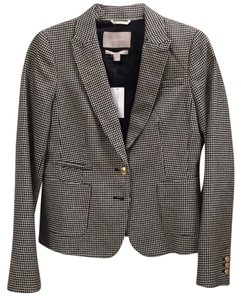 Banana Republic Hounds tooth black and white check pattern. Blazer