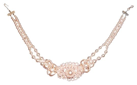 Other Pink Pearl Vintage Costume Necklace 16 inch,Free Shipping Image 1