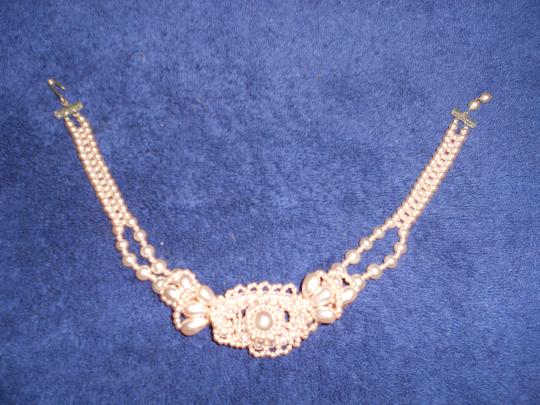 Other Pink Pearl Vintage Costume Necklace 16 inch,Free Shipping Image 2