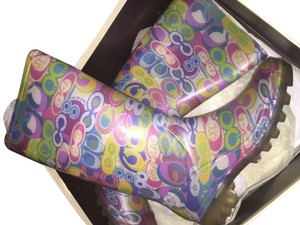 Coach Boot Rubber Rainboot Multi Boots