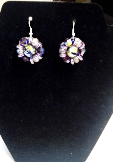 Macy's Purple Beaded Pierced Earrings