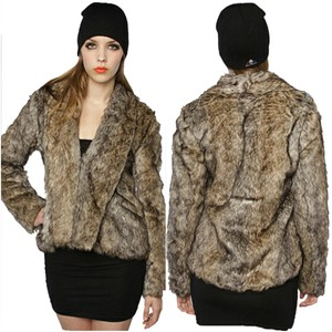 BB Dakota Faux Fur Winter Chic Fur Coat