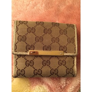 641485ed45 Gucci Gucci canvas leather wallet