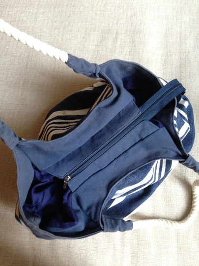 kbas Beach Striped Rope navy/white Beach Bag