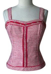 White House | Black Market Bustier Tweed Top pink