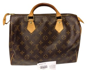 Louis Vuitton Satchel in Brown & Orange
