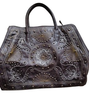 Other Grommets Stitching Boho Western Morrocan Satchel in brown