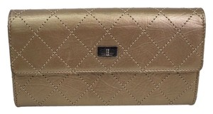 Chanel Chanel 2.55 Calfskin Leather Gold Bronze Wallet