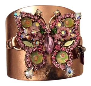 Betsey Johnson BETSEY JOHNSON Gold-Tone Crystal Butterfly Cuff Bracelet NWT $65