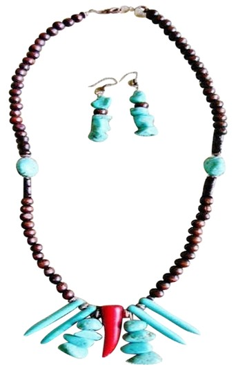 by Dainty Heirlooms Brown Bamboo Beaded Necklace Set