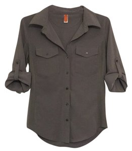lucy Button Down Shirt Grey