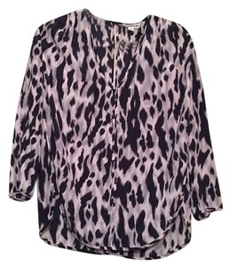 Whistles Silk 3/4 Sleeve Top Pink