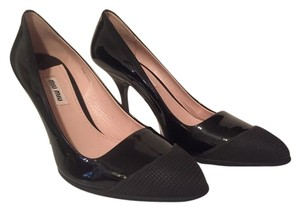 Miu Miu Heels Patent Leather Leather Italy Black Pumps