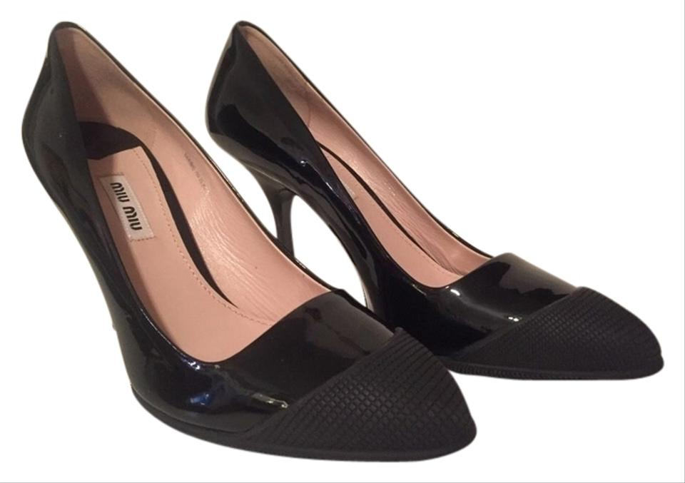 19c8374f41a0 Miu Miu Black  calzature Donna  Heels (Sz 36.5)  in Box and Dustbag  Pumps