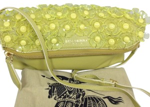 Burberry Lime Yellow Leather Shoulder Bag