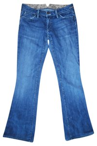 Goldsign Stretch Designer Genuine Boot Cut Jeans-Distressed