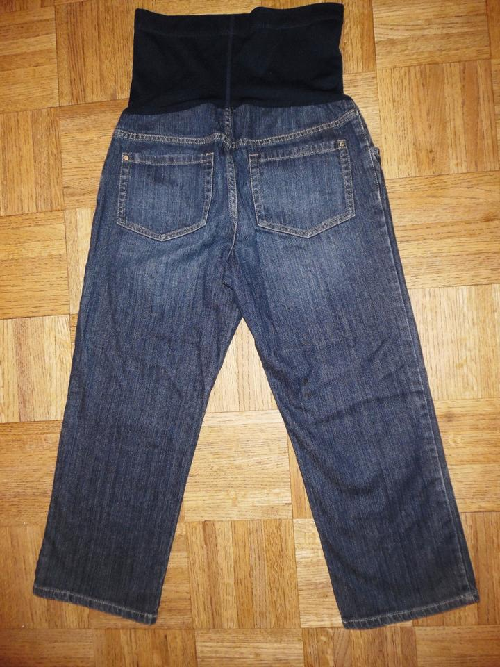 1ff1e5fc7972f Liz Lange Maternity for Target Blue Stretchy Faded Cropped Paneled Capris Jeans  Maternity Denim Size 2 (XS, 26) - Tradesy
