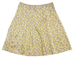 Diane von Furstenberg Tan Yellow Printed Skirt