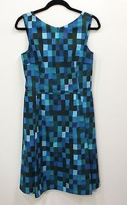 Akris Punto Blue And Green Dress