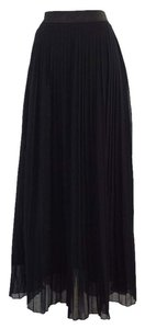 Yudashkin Black Pleated Maxi Skirt