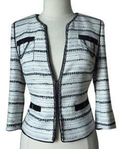 White House | Black Market Tweed Glitter Chains Jacket