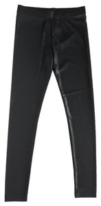 MM6 Maison Martin Margiela Shimmering Black Leggings
