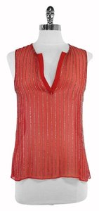 Parker Red Beaded Silk Top